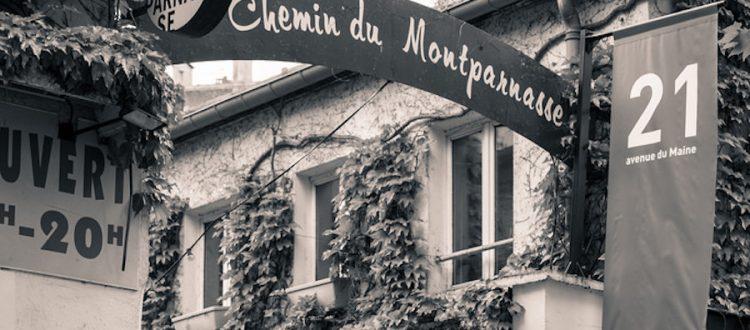 Chemin du Montparnasse Paris lete quartier Montparnasse Hotel Raspail Montparnasse