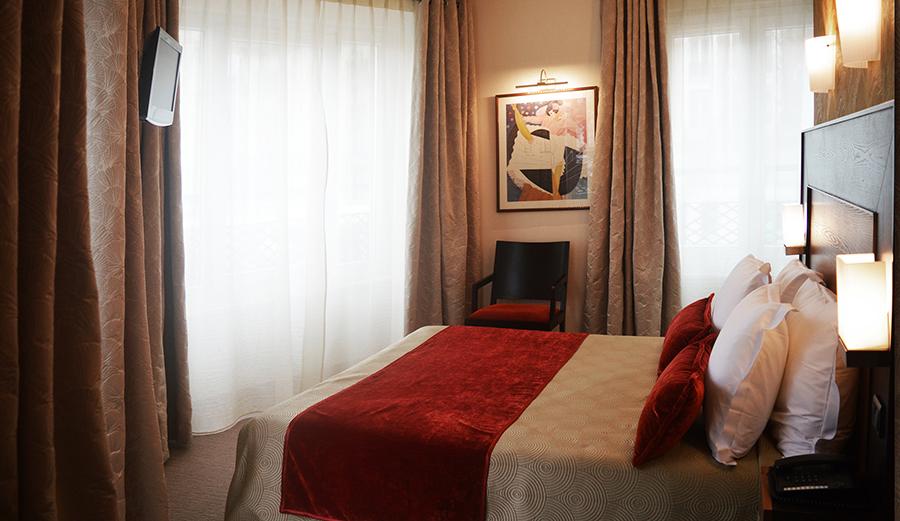 hotel raspail chambre renovee